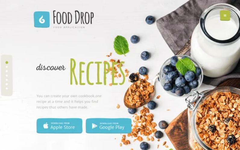 Тема Food Drop для вордпресс сайта по доставке еды