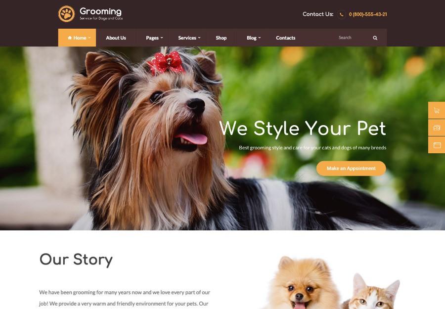 10 шаблонов WordPress для ветеринарной клиники и ухода за животными 2020