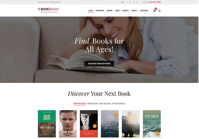 Booklovers   WordPress шаблон для книжного магазина + RTL