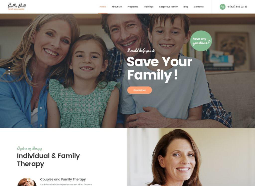 Психология семейного консультирования Тема WordPress