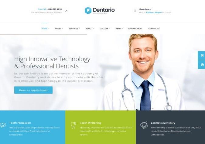 Dentario   WordPress шаблон для стоматологической клиники + RTL