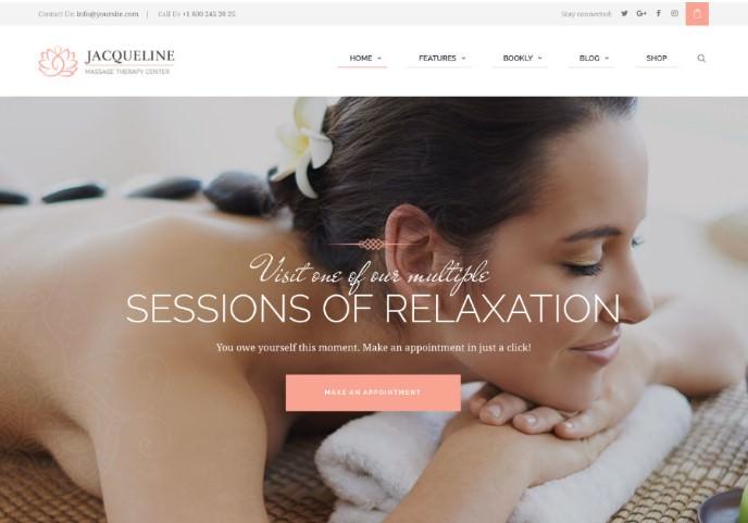 Jacqueline   Spa & Massage Salon Beauty WordPress шаблон для салона красоты, массажа, SPA