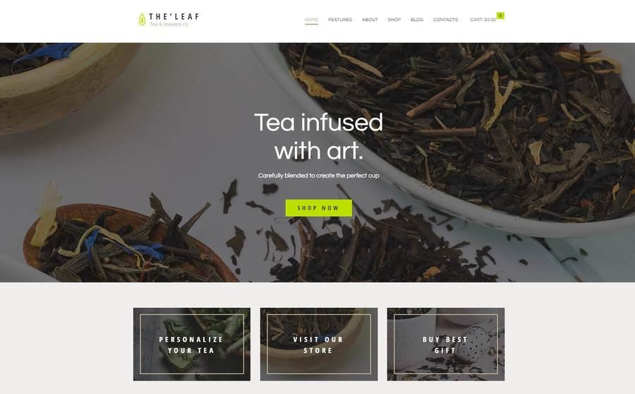 TheLeaf | WordPress шаблон для магазина чая