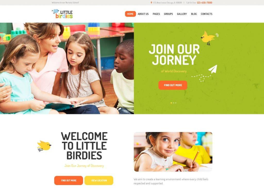 Многофункциональный детский сад WordPress шаблон