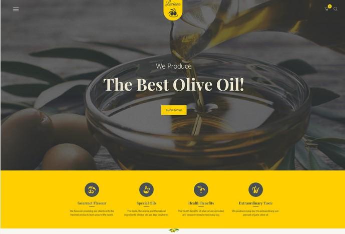 Olive Oil Farm and Vinegars Production   шаблон WordPress для магазина органических продуктов