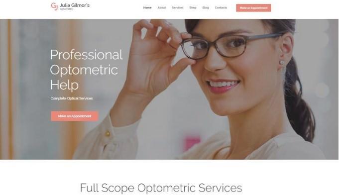 Optometry, Optician & Optics Store   WordPress шаблон для магазина оптики