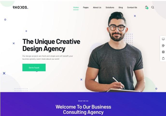 Rhodos - мультицелевой WordPress шаблон для бизнеса