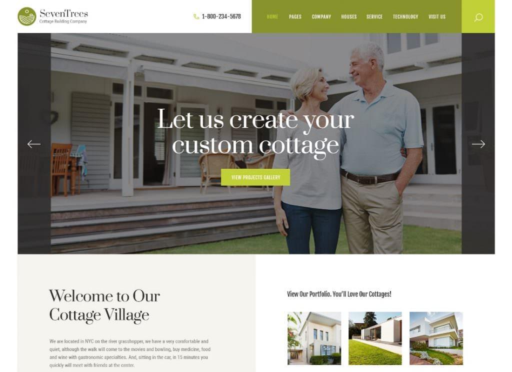 Недвижимость WordPress тема