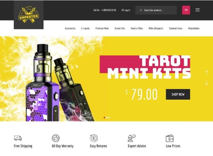 Vapester   WooCommerce шаблон для вейп-шопа, магазина электронных сигарет