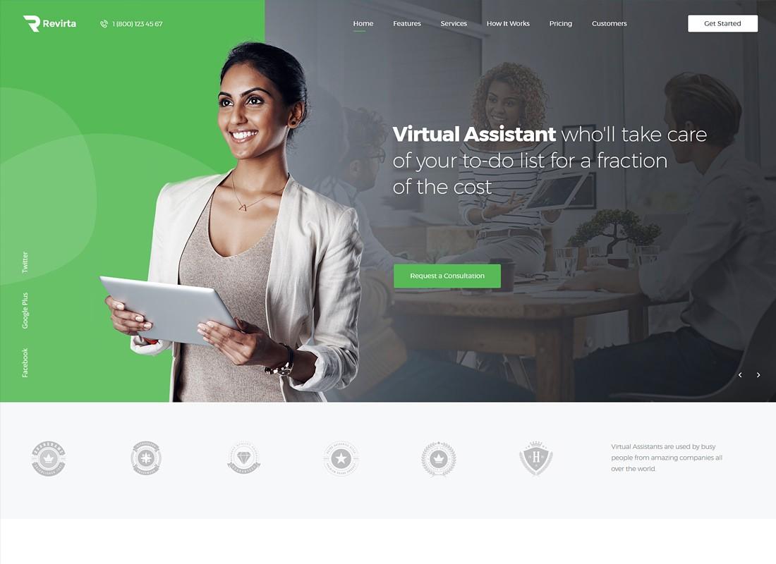 Топ 10 Шаблонов WordPress для виртуального и персонального ассистента 2020
