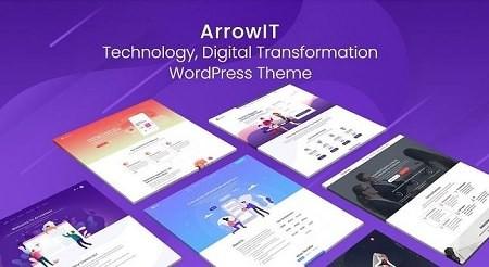 Шаблон ArrowIT - технология, цифровая трансформация WordPress