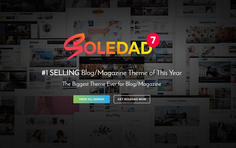 Soledad тема WordPress 5000+ демо версий сайтов