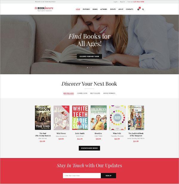 9 премиум WordPress тем для книжного магазина 2020