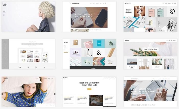 Stockholm тема Вордпресс для бизнес сайта