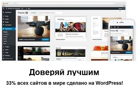33% всех сайтов сделано на WordPress