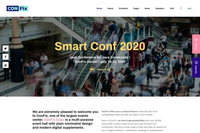 ConFix | WordPress шаблон для выставочного зала и места проведения конференций, мероприятий