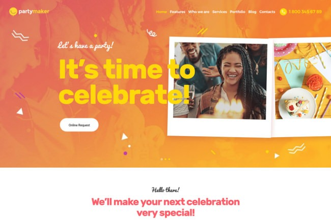 PartyMaker | WordPress шаблон для организации мероприятий