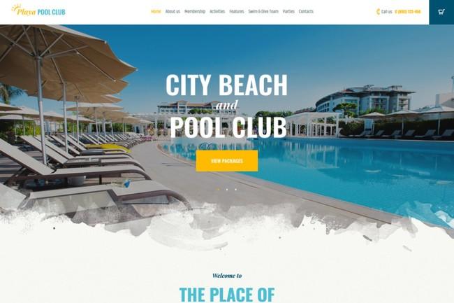 Playa | WordPress шаблон для городского пляжа и пляжного клуба