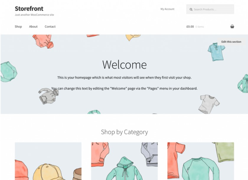 Storefront тема WordPress для WooCommerce