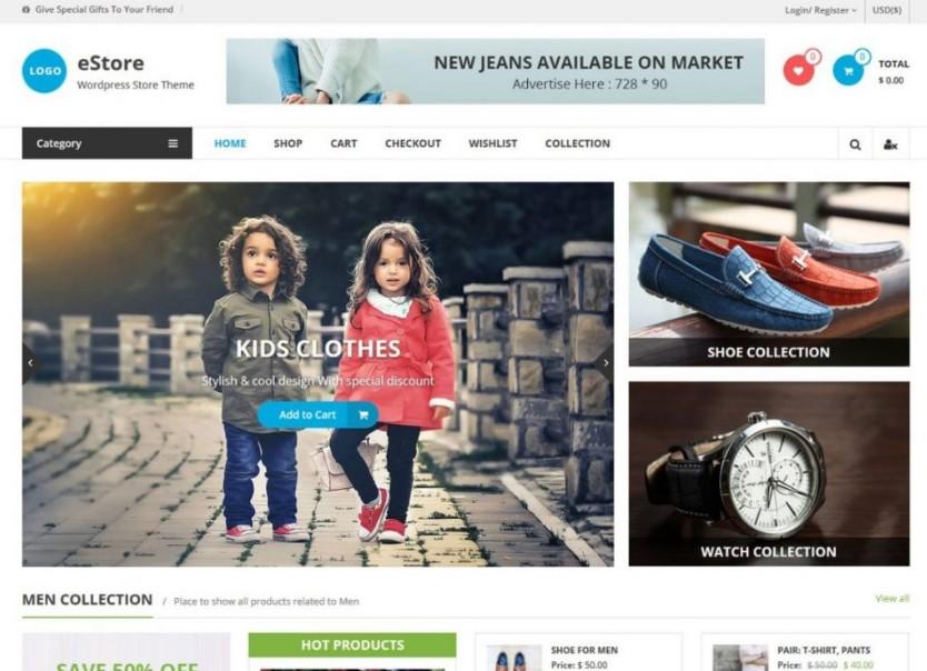 eStore тема для онлайн-бизнеса
