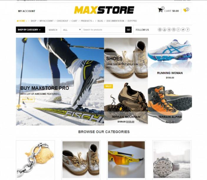 MaxStore тема для веб-сайтов электронной коммерции