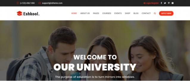 Eshkool тема для сайта университета