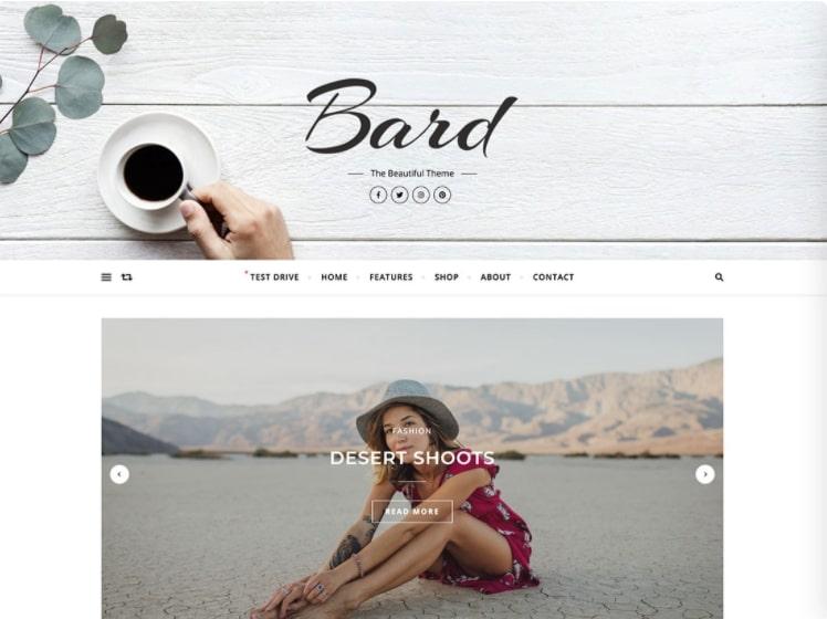 Bard тема для блога о моде