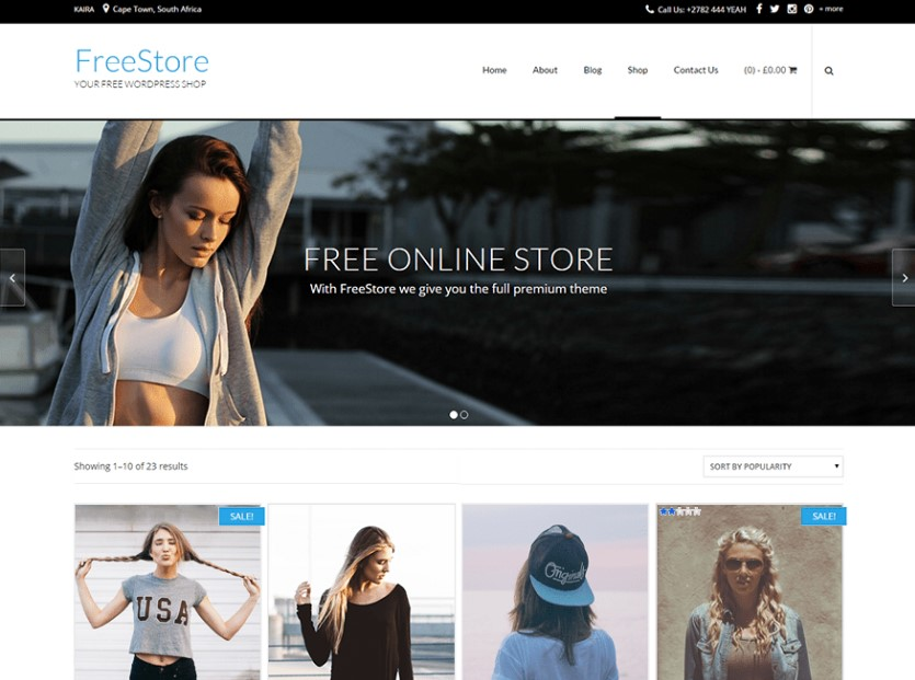 FreeStore адаптивная тема WordPress для WooCommerce