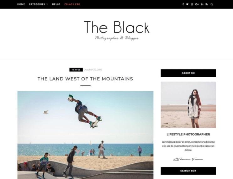 BlackLite тема WP для блога