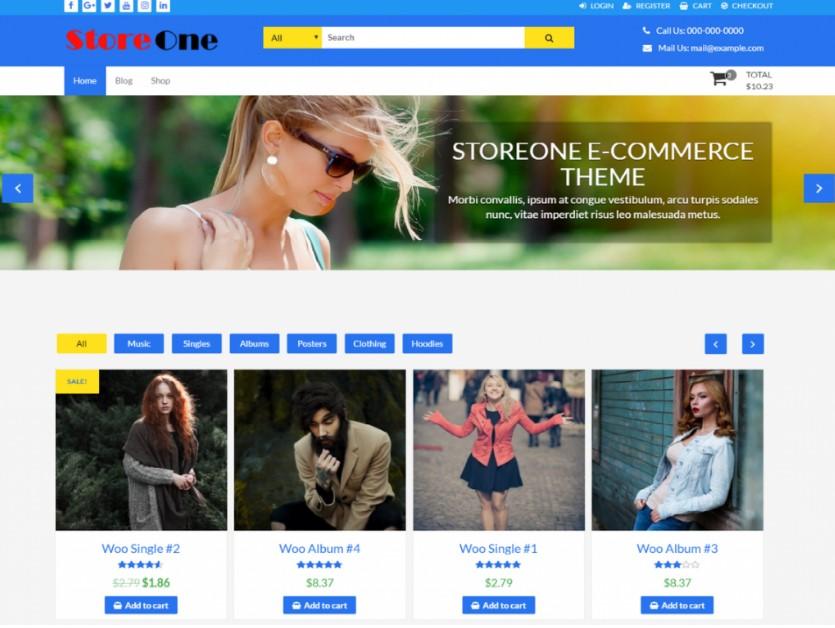 StoreOne тема WooCommerce WordPress для вашего интернет-магазина