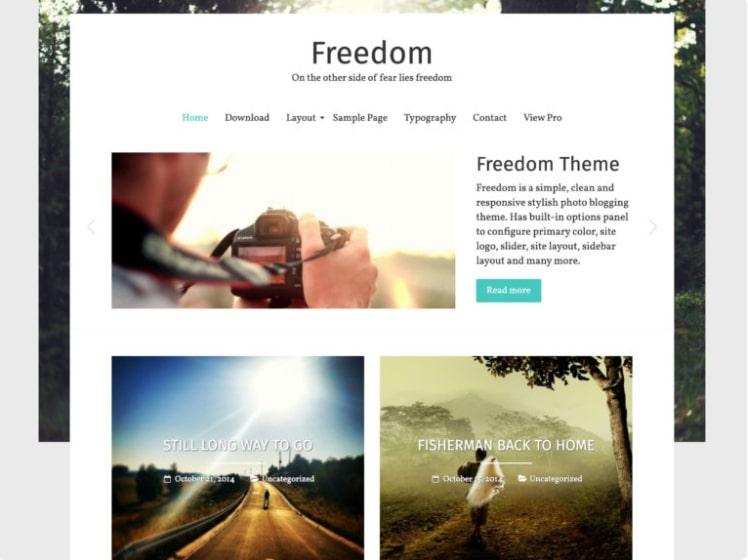Freedom тема для туристического блога