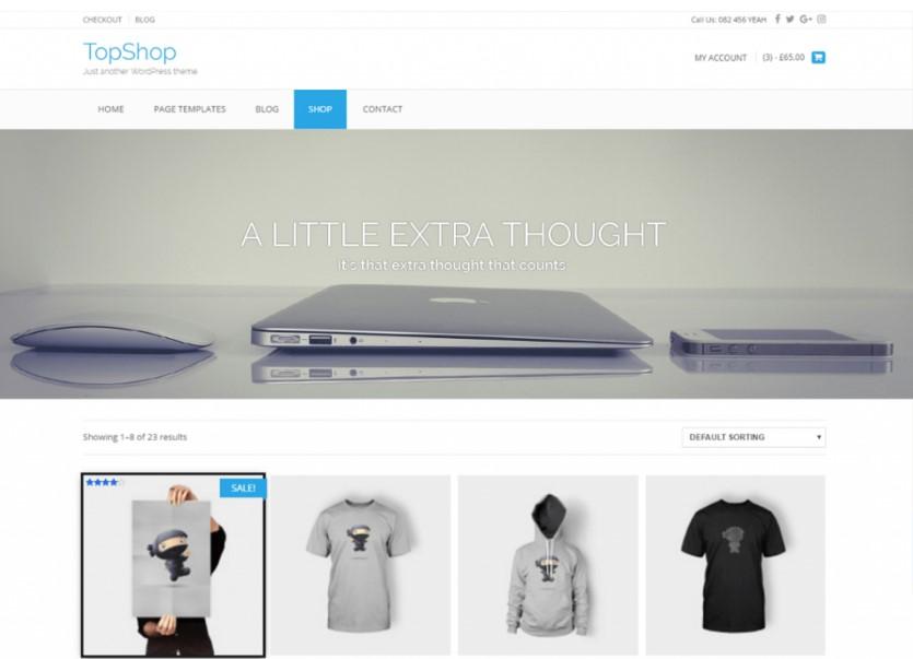 TopShop тема для онлайн-бизнеса