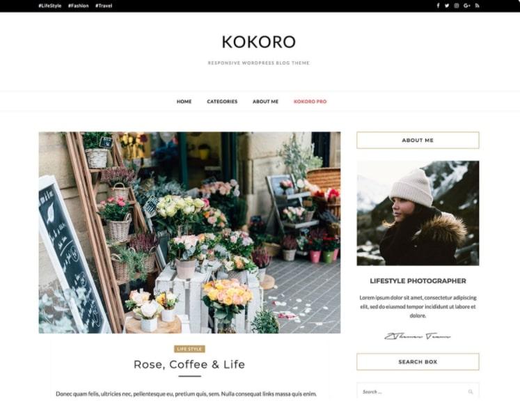 Kokoro тема для блога