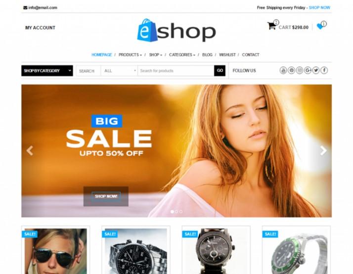 E-Shop тема WordPress WooCommerce