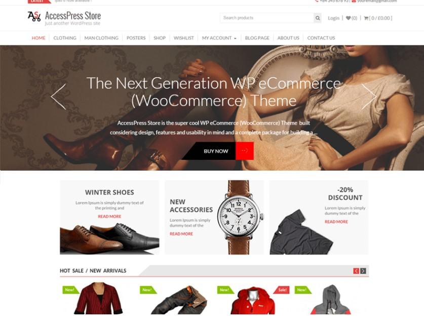 AccessPress Store тема WordPress для магазина моды