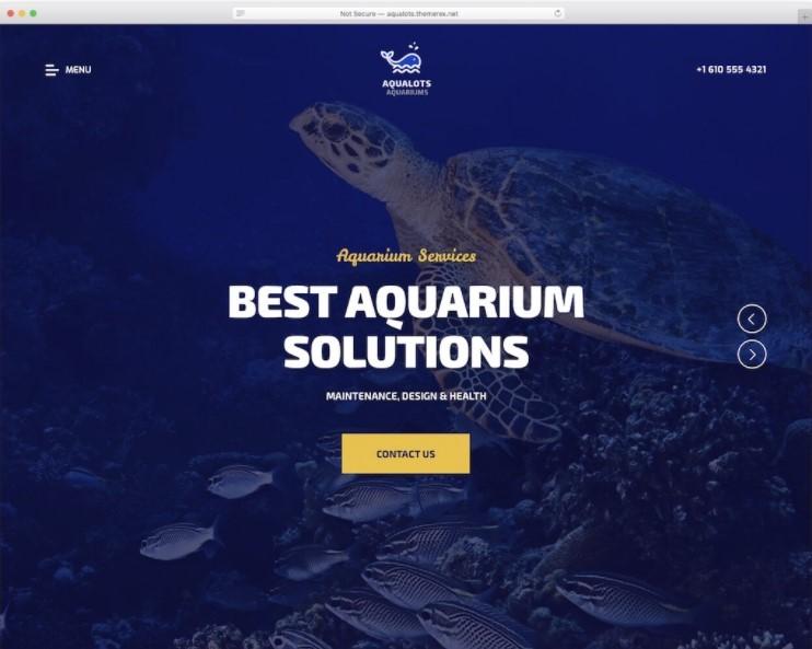 Aqualots тема для сайта рыбалки или аквариума