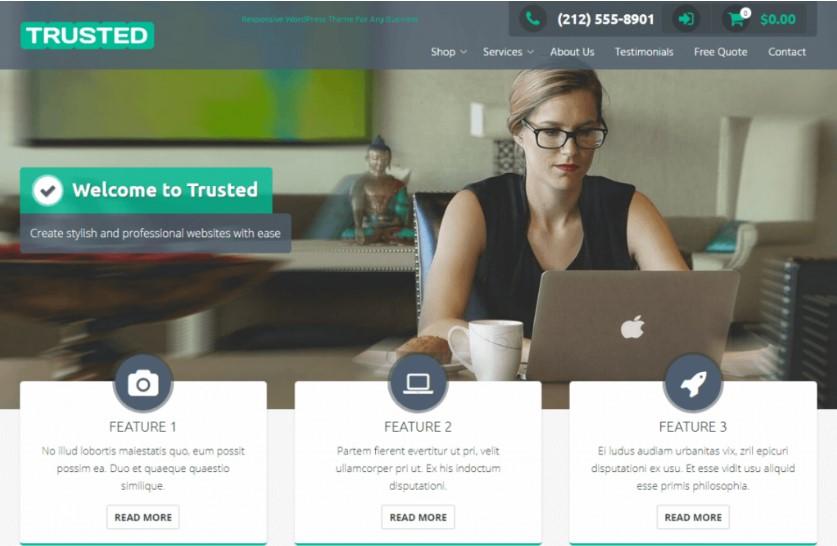 Trusted тема WordPress для сайта электронной коммерции