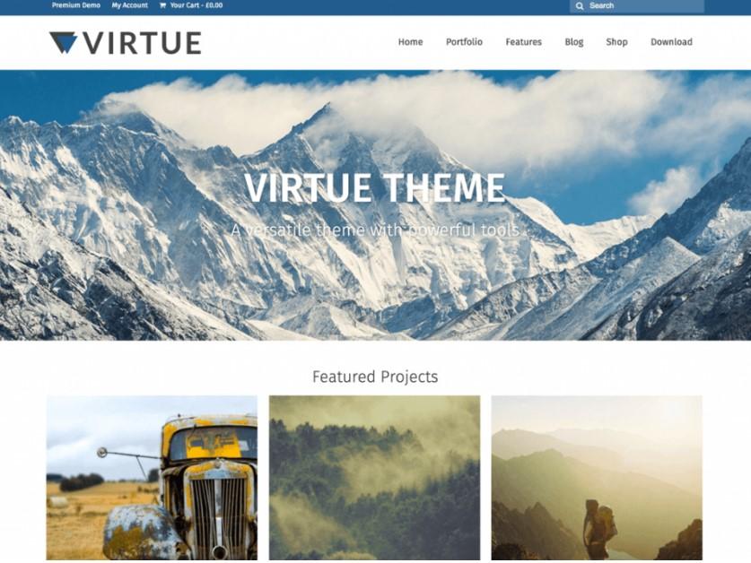 Virtue тема WordPress для WooCommerce
