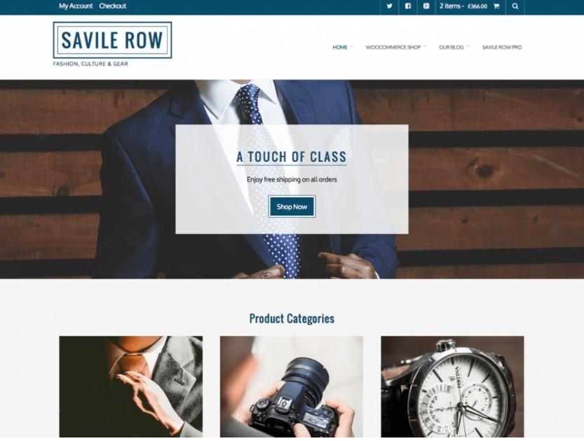 Savile Row тема для бизнеса