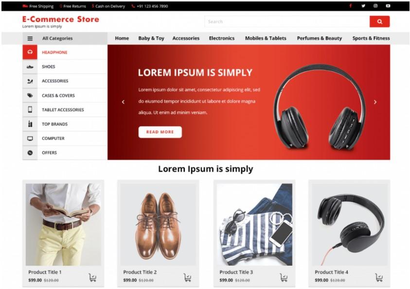VW E-Commerce шаблон WP для электронной коммерции