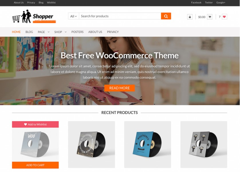Shopper тема для интернет магазина