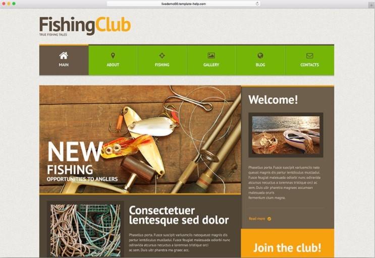 Fishing Tales шаблон для рыбачьего сайта