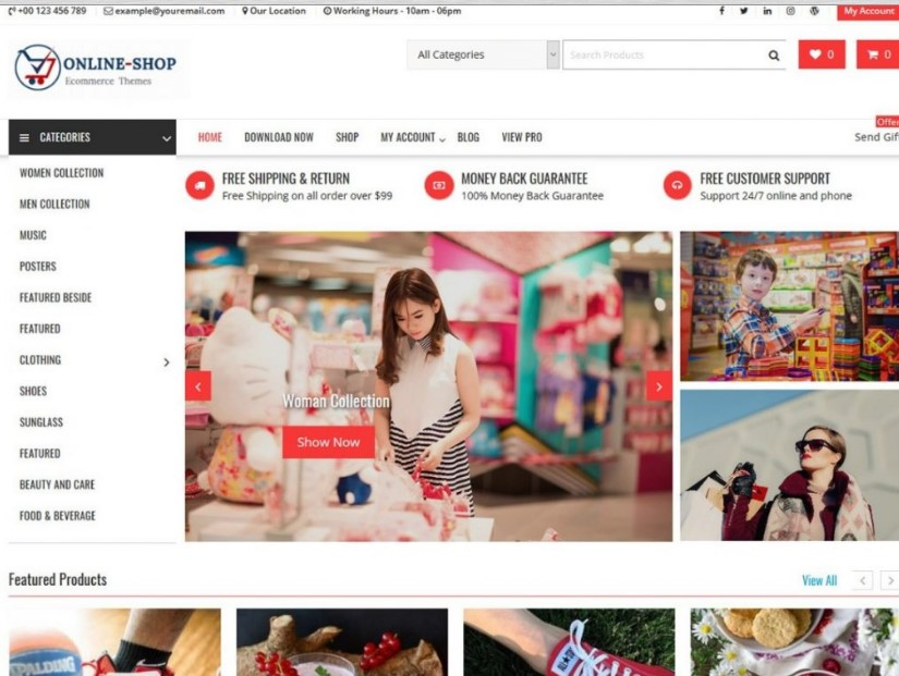 Online Shop тема для онлайн магазина