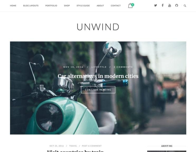 Unwind тема для техно блога