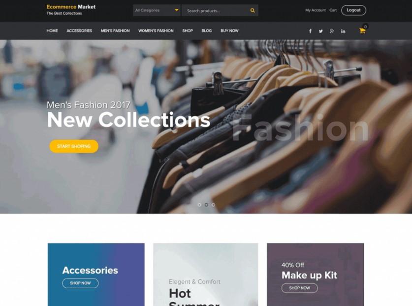 eCommerce Market шаблон для интернет-магазина