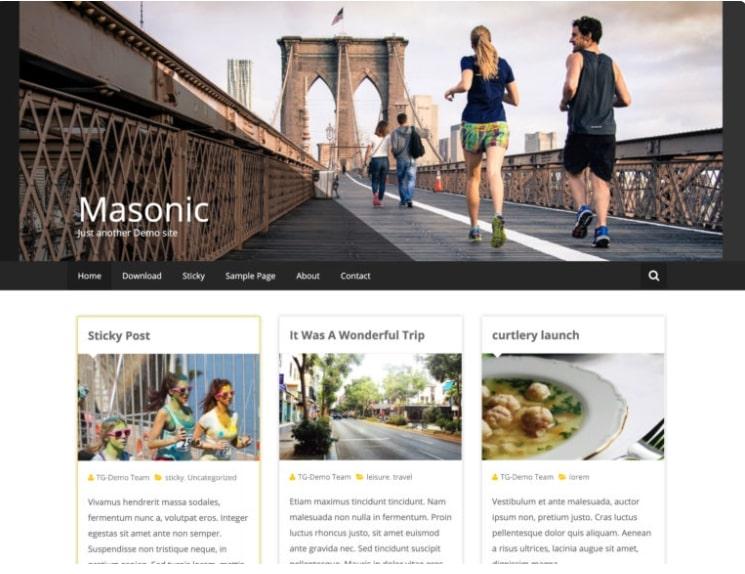 Masonic тема для блога о путешествиях