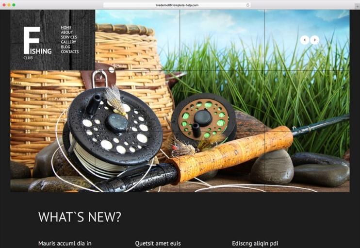 Fishing Club WordPress Theme тема для сайта клуба рыбаков