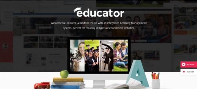 Educator шаблон для онлайн курсов