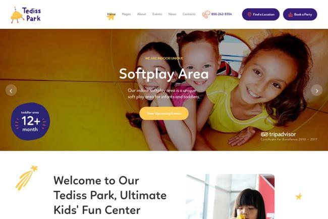 Tediss | шаблон WordPress для детского игрового центра