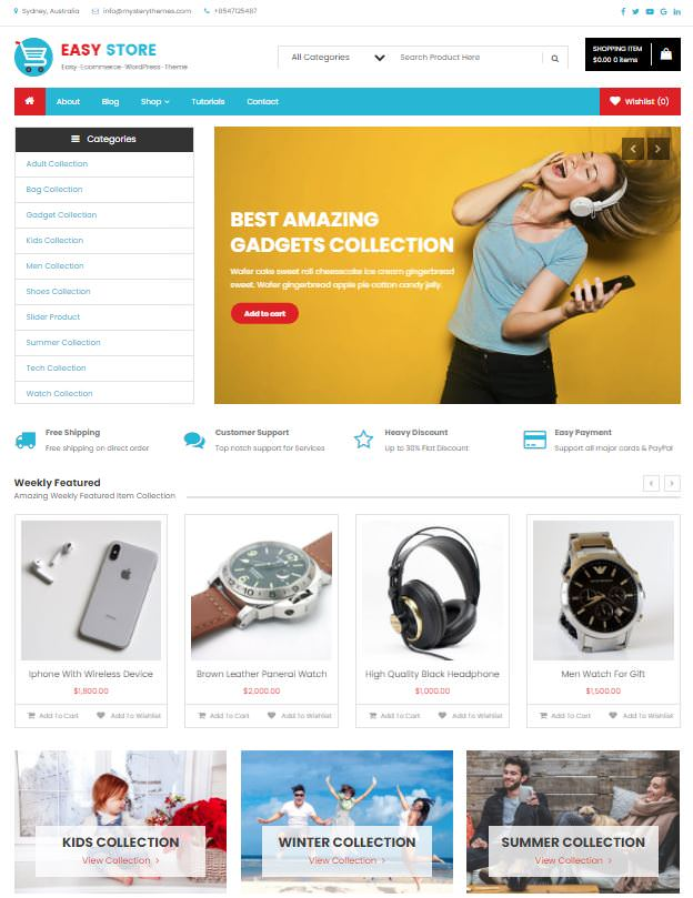 Easy Store шаблон для легкого старта магазина в онлайне
